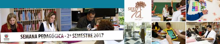 Banner da semana pedagógica segundo semestre de 2017