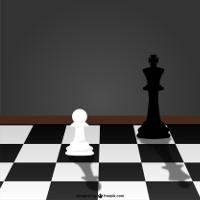 imagem de tabuleiro e peças do jogo de xadrez