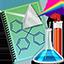 icone caderno atividades práticas laboratório