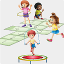 ícone jogos e brincadeiras