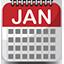 Ícone calendário dezembro