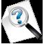 ícone para acesso às perguntas frequentes da ouvidoria
