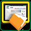 ícone tablet equipe administrativa