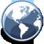 ícone globo terrestre