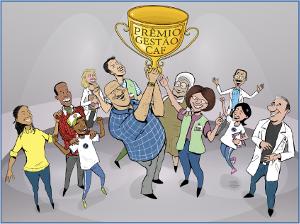 ilustração prêmio Gestão CAF