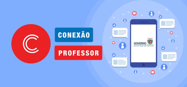 Banner com a logo e nome da ação Conexão Professor