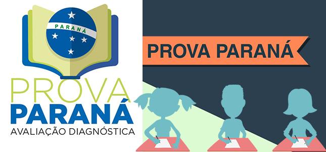 Banner com a logo e o nome Prova Paraná Avaliação Diagnóstica, e link para a página correspondente