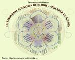 A taxonomia dos objetivos educacionais, também popularizada como taxonomia de Bloom, é uma estrutura de organização hierárquica de objetivos educacionais. Foi resultado do trabalho de uma comissão multidisplinar de especialistas de várias universidades dos EUA, liderada por Benjamin S. Bloom, na década de 1950. A classificação proposta por Bloom dividiu as possibilidades de aprendizagem em três grandes domínios:  - o cognitivo, abrangendo a aprendizagem intelectual;  - o afetivo, abrangendo os aspectos de sensibilização e gradação de valores;  - o psicomotor, abrangendo as habilidades de execução de tarefas que envolvem o organismo muscular.  Cada um destes domínios tem diversos níveis de profundidade de aprendizado. Por isso a classificação de Bloom é denominada hierarquia: cada nível é mais complexo e mais específico que o anterior. O terceiro domínio não foi terminado, e apenas o primeiro foi implementado em sua totalidade.