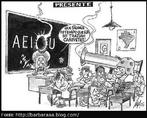 A charge apresenta um dos problemas enfrentados na escola atualmente. Mesmo com formação superior e experiência, os professores enfrentam um problema em sala de aula com o qual não sabem lidar: a violência da região onde a escola se localiza e que atravessa o muro das escolas.