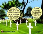 Charge de Otávio Rios sobre o desarmamento.