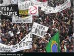 Estudantes em protesto contra a corrupção no governo Collor, em 1992. em grandes manifestações promovidas pela UBES em todo país, secundaristas com as caras pintadas ajudaram a mobilizar a opinião pública e pressionar pela renúncia do então presidente.