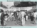 Manifestação de estudantes no Rio de Janeiro em 1968. Mesmo com o regime militar, que colocou a UBES na ilegalidade a entidade continuou se organinzando nos grêmios estudnatis. Na foto, estudantes secundaristas fazem protesto requerendo mais vagas nas universidades públicas.