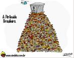 Charge de Otávio Rios sobre a desigualdade social.