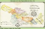 Mapa da região de São Carlos, que estava no relatório da Delegacia Regional da cidade, em 1943.