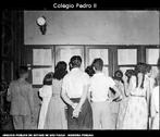 Foto do início das aulas no Colégio Pedro II, em 20/03/1953.