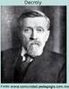 """Jean-Ovide Decroly (1871- 1932), médico belga, foi diretor da Escola """"École d'Ermitage"""" (1907), cujo o ensino era direcionado aos meninos considerados de infância irregular, e que se tornou famosa como exemplo da Escola Nova.  O princípio de globalização de Decroly se baseia na ideia de que as crianças apreendem o mundo com base em uma visão do todo, que posteriormente pode se organizar em partes, ou seja, que vai do caos à ordem."""