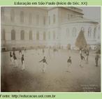 """Jovens jogam """"bola ao cesto"""", em 1908. Seria quase um basquete?"""