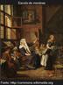 Meninas da escola, óleo sobre tela de Jan Josef Horemans the Younger século 18