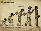 Charge de Otávio Rios sobre a importância da educação.