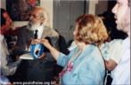 Foto de Paulo Freire no lançamento do livro Pedagogia da Esperança.