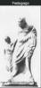 Pequena estatueta grega em terracota do escravo pedagogo.